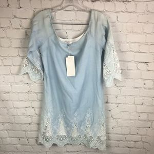 NWT Lucy Paris Light Blue with Lace - Small